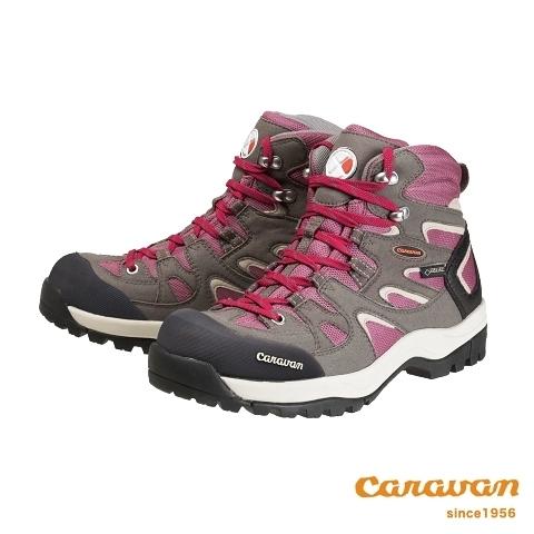 【日本Caravan】 C6_02 中筒登山健行鞋 - 女 (粉紅色)