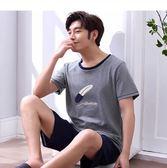 睡衣男短袖純棉休閒男士睡衣短褲青年薄款家居服套裝 黛尼時尚精品