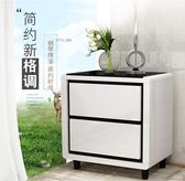 床頭櫃-簡約現代 收納櫃儲物櫃臥室小櫃子迷你床邊櫃白色簡易 解憂雜貨鋪YYJ