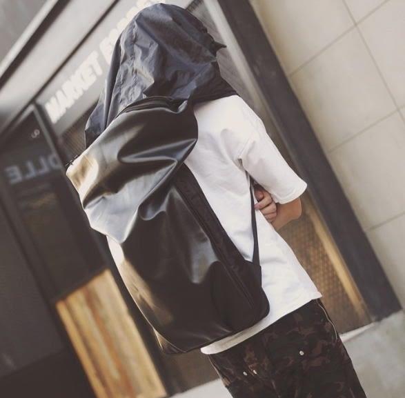 【NF300】潮流防潑水連帽防盜背包 潮男多功能防水PU電腦雙肩包韓版女大容量旅行背包