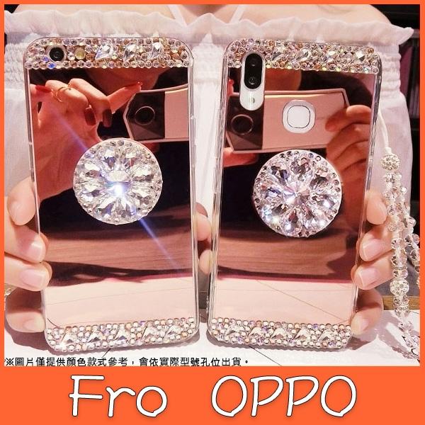 OPPO Reno4 pro Reno4Z Reno2Z Reno Z R17 pro 鏡面 氣囊 支架殼 手機殼 水鑽 鏡面 軟殼 全包邊 保護殼