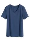 白色V領短袖T恤女夏寬鬆韓版顯瘦新款洋氣ins潮網紅打底上衣 伊衫風尚