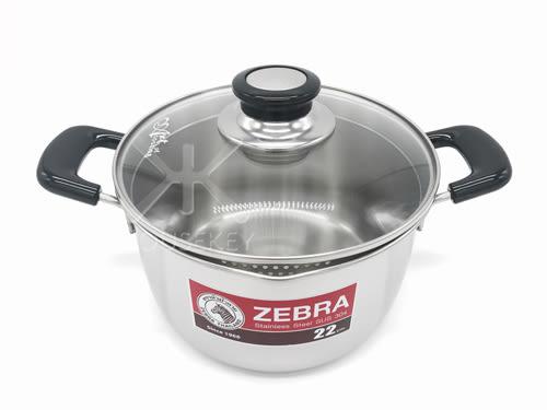 【好市吉居家生活】斑馬牌 ZEBRA 169613 Cesar雙耳鍋 22CM 牛奶鍋 不銹鋼鍋 火鍋 萬用調理鍋