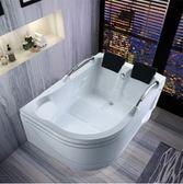 情侶浴缸亞克力歐式成人雙人獨立式恒溫衝浪按摩別墅情趣酒店按摩 DF科技藝術館