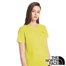 【THE NORTH FACE 美國】女 快乾短袖圓領 T恤『黃綠麻花』NF0A4UB8 戶外 時尚 休閒 上衣 短袖