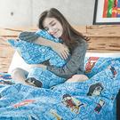 床包 / 雙人【DC正義聯盟-正義曙光】含二件枕套,磨毛多工法處理,戀家小舖台灣製M02-ABF201
