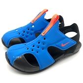 《7+1童鞋》中童 NIKE SUNRAY PROTECT2 (PS) 輕量 運動休閒涼鞋 G801  藍色