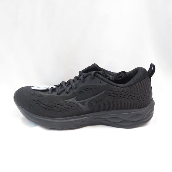 Mizuno WAVE REVOLT 2 男款 慢跑鞋 3E楦 J1GC218511 全黑 大尺碼【iSport愛運動】