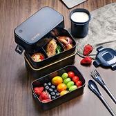 雙層飯盒便當上班族日式減脂健身分隔型餐盒套裝保溫可微波爐加熱 【端午節特惠】