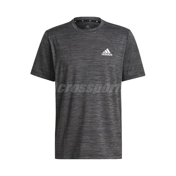 adidas 短袖T恤 Aeroready Sport Stretch Tee 灰 白 男款 短T 健身 運動休閒 【ACS】 GM2074