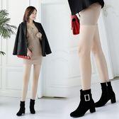 丁果、大尺碼女鞋34-43►合腿顯瘦大扣帶環絨皮高跟短靴子*3色