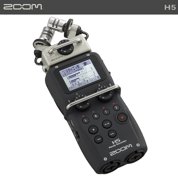 EGE 一番購】Zoom【H5】數位手持型錄音機 混音器 錄音筆 可外接麥克風【公司貨】