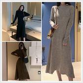 SHINE KOREA 韓妞時尚針織顯瘦連身裙(偏瘦版型)