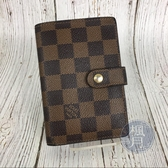 BRAND楓月 LOUIS VUITTON LV N61674 經典 棋盤格 扣式 中夾 錢包 錢夾