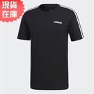 【現貨】ADIDAS E 3S 男裝 短袖 休閒 慢跑 棉質 黑【運動世界】DQ3113