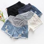 售完即止-孕婦牛仔短褲女外穿薄夏季低腰孕婦裝打底褲子孕婦夏裝托腹6-14(庫存清出T)