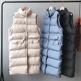 羽絨棉馬甲女中長款秋冬韓版百搭寬鬆背心坎肩外穿面包服馬甲外套 雙十二購物節