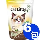 【寵物王國】CARL卡爾-環保豆腐貓砂(烏龍茶)6L x6包免運組合(324520)
