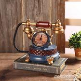 美式復古酒柜創意書房間歐式客廳臥室家居裝飾品擺件小擺設電話機     時尚教主