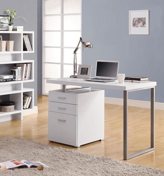 【森可家居】康迪仕摩登電腦書桌(白色) 7JX262-1 北歐風 辦公桌