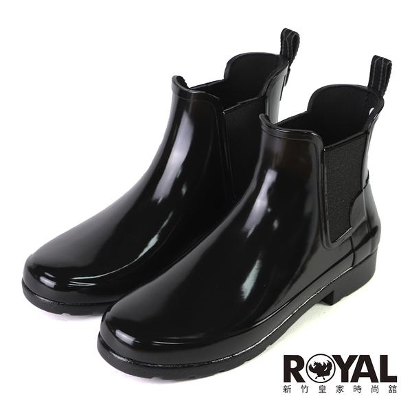 HUNTER Refined 黑色 防水 亮面 踝靴 女款 NO.J0968【新竹皇家 WFS2201RGLBLK 】