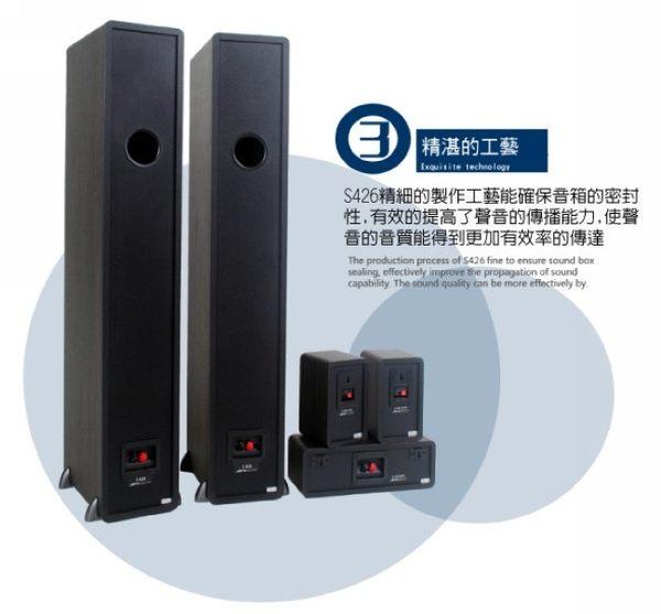 【Pioneer x Jamo 】五聲道家庭劇院(VSX-531+S426HCS)核桃木色款【含專人安裝+送25米喇叭線】
