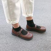 南在南方 夏季韓版復古可愛軟妹淺口小皮鞋瑪麗珍鞋大頭鞋學生女