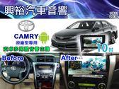 【專車專款】2012~2014年TOYOTA CAMRY 專用10吋觸控螢幕安卓多媒體主機*藍芽+導航+聲控+安卓6.0