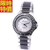鑽錶-有型獨特個性女手錶2色5j113【巴黎精品】