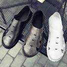 洞洞鞋鏤空豆豆鞋休閒涼鞋包頭耐磨沙灘鞋