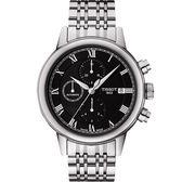 【僾瑪精品】TISSOT Carson 紳士計時機械錶-黑/42mm/T0854271105300/公司貨/送禮