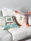 北歐輕奢流蘇沙發抱枕靠墊正方形卡通可愛臥...