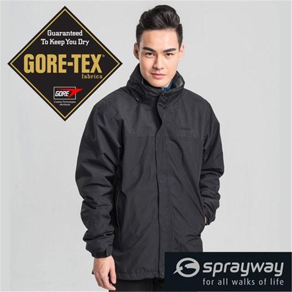 Sprayway 英國 皮克頓GT防水透氣外套 黑 SP-001385 風雨衣 GTX Gore-Tex [易遨遊]