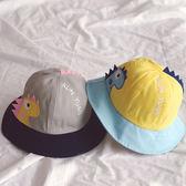 俏皮拚色恐龍漁夫帽遮陽帽 童帽 防曬帽 帽子 遮陽帽 沿邊帽 漁夫帽