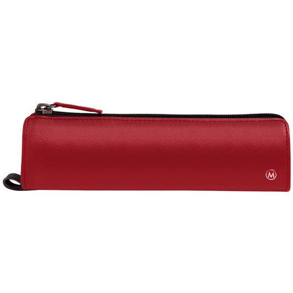 MONDAINE 瑞士國鐵牛皮筆袋-紅