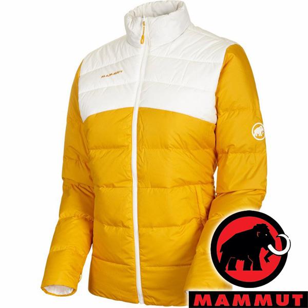 【MAMMUT 長毛象】女 Pertex 輕量雙面羽絨外套『1247 金黃/純白』1013-01070 戶外 露營 登山 保暖 禦寒