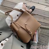手提包秋冬休閒水桶小包包女2020流行新款潮韓版百搭側背斜背時尚手提包 交換禮物