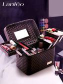 大容量韓國化妝包女多功能層小號網紅便攜手提化妝品收納盒簡約箱 台北日光