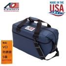 【AO COOLERS】酷冷軟式輕量保冷托特包-24罐型-海軍藍 貼心外側分隔袋