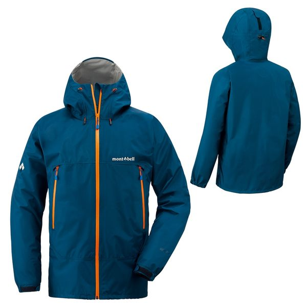 [好也戶外]mont-bell Rain Dancer Jacket男款連帽風雨衣/石灰藍 No.1128340-SLBL