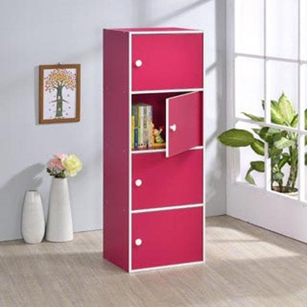ONE HOUSE-DIY-四層門櫃/收納櫃/多層櫃/書架/置物櫃/高低櫃/展示櫃