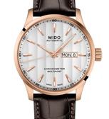 MIDO美度錶Multifort Chronometer天文台自動機械錶(M0384313603100)白面/玫瑰金框/42mm