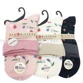 【KP】日本製 襪子 長襪 鬱金香 花 圖紋 親膚 棉22~25CM 三款選 DTT100007503