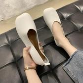 豆豆鞋 2020春夏新款韓版孕婦平底單鞋女時尚百搭方頭淺口軟底奶奶豆豆鞋 薇薇