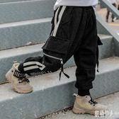 男童工裝褲褲子加絨加厚2019新款韓版洋氣兒童秋冬款牛仔褲長褲潮 PA10815『紅袖伊人』