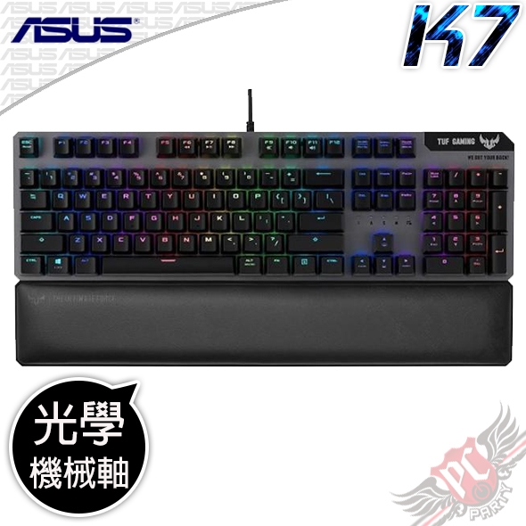 [ PC PARTY ] 華碩 ASUS TUF Gaming K7 光學機械軸 電競鍵盤