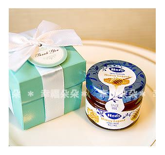 婚禮小物【歐美流行Tiffany經典藍+瑞士進口喜諾Hero小蜂蜜送客禮盒 】伴娘禮/活動禮 幸福朵朵