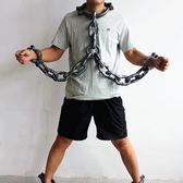 林芳460g萬聖節錶演道具塑料囚犯鐵鍊腳鐐手鐐鐵鍊手銬手鍊  酷斯特數位3c