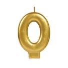 金色數字蠟燭-0