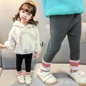 女寶寶加絨打底褲秋冬洋氣兒童保暖外穿長褲女童彈力小腳棉褲3歲5 交換禮物